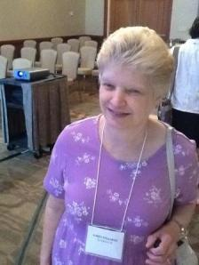 Karen Poulakos, Leber congenital amaurosis patient smiling